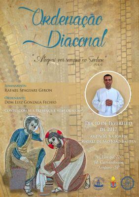 cartaz ordenação Rafael