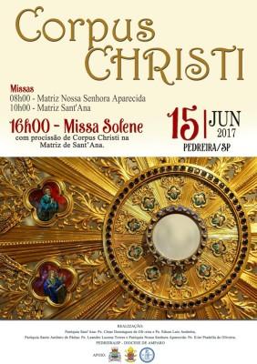 Corpus Christi cidade de Pedreira