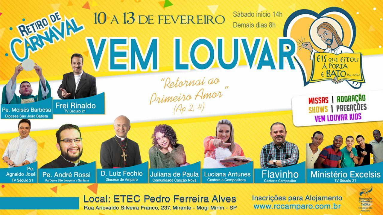 RCC REALIZA RETIRO DE CARNAVAL 'VEM LOUVAR' – Diocese De