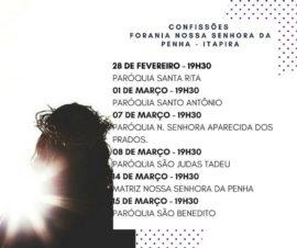 MUTIRÃO DE CONFISSÃO NA FORANIA NOSSA SENHORA DA PENHA