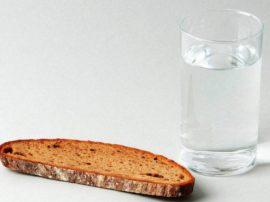 pão e água-jejum quaresmal