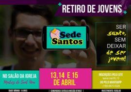 cartaz retiro Sede Santos