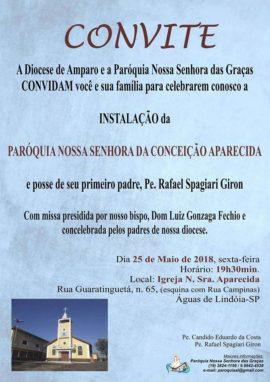 Convite criação paróquia
