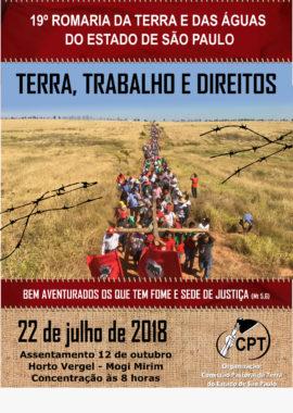 19ª ROMARIA DA TERRA E DAS ÁGUAS DO ESTADO DE SÃO PAULO
