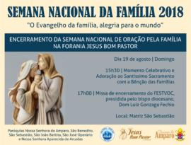 encerramento SEMANA DA FAMÍLIA JESUS BOM PASTOR 2018