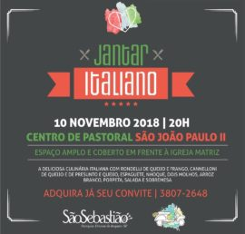 Jantar Italiano_São Sebastião